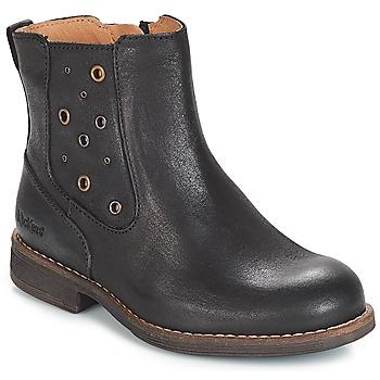Schoenen Meisjes Hoge laarzen Kickers SMAD Zwart