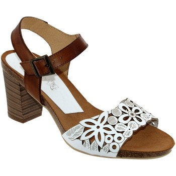 Schoenen Dames Sandalen / Open schoenen Xapatan 8099 Wit / bruin leer
