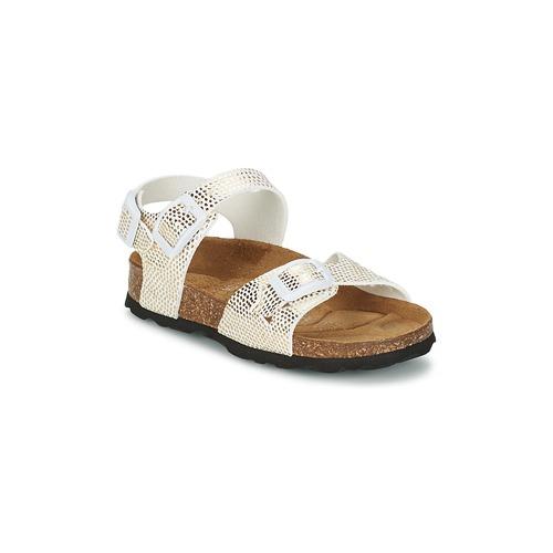 Schoenen Meisjes Sandalen / Open schoenen Betula Original Betula Fussbett JEAN Slang / Goud