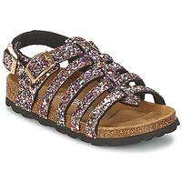 Schoenen Meisjes Sandalen / Open schoenen Betula Original Betula Fussbett LEONA Roze / Multi
