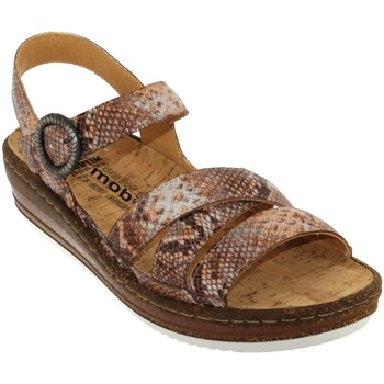 Schoenen Dames Sandalen / Open schoenen Mobils By Mephisto Lucie Beige Rosé leer