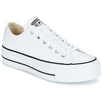 Schoenen Dames Lage sneakers Converse CHUCK TAYLOR ALL STAR LIFT CLEAN OX LEATHER Wit