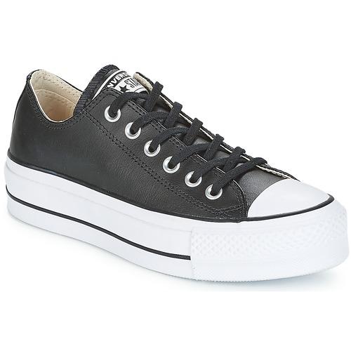 Schoenen Dames Lage sneakers Converse CHUCK TAYLOR ALL STAR LIFT CLEAN OX Zwart / Wit