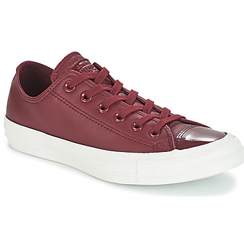 Schoenen Dames Lage sneakers Converse CHUCK TAYLOR ALL STAR LEATHER OX Bordeau