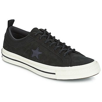 Schoenen Lage sneakers Converse ONE STAR LEATHER OX Zwart