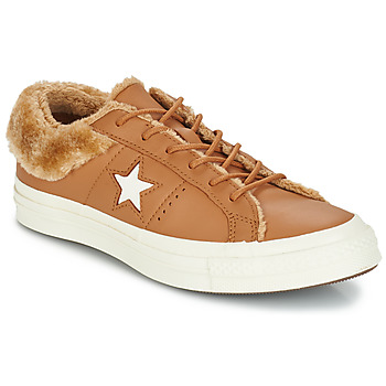 Schoenen Dames Lage sneakers Converse ONE STAR LEATHER OX Camel