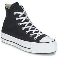 Schoenen Dames Hoge sneakers Converse CHUCK TAYLOR ALL STAR LIFT CANVAS HI Zwart