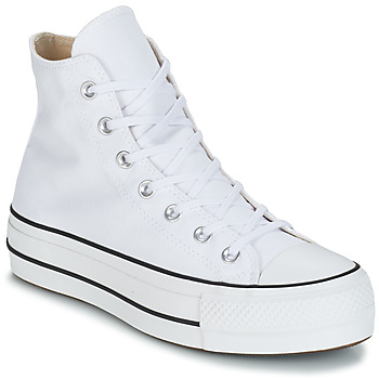 Schoenen Dames Hoge sneakers Converse CHUCK TAYLOR ALL STAR LIFT CANVAS HI Wit