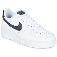 Schoenen Dames Lage sneakers Nike AIR FORCE 1'07 W Wit / Zwart