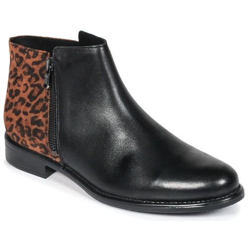 Schoenen Dames Laarzen Betty London JINANE Zwart / Bruin