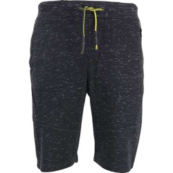 Textiel Heren Korte broeken / Bermuda's No Excess Short, sweat, yd melange, sealed zi black Zwart