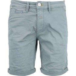 Textiel Heren Korte broeken / Bermuda's No Excess Short, garm dyed satin, stretch zinc Blauw