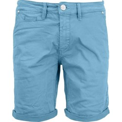 Textiel Heren Korte broeken / Bermuda's No Excess Short, garm dyed satin, stretch blue Blauw