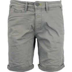 Textiel Heren Korte broeken / Bermuda's No Excess Short, garm dyed satin, stretch steel Grijs