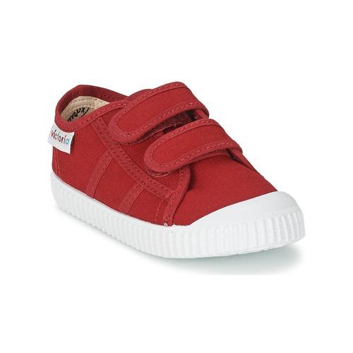 Schoenen Kinderen Lage sneakers Victoria BLUCHER LONA DOS VELCROS Karmijnrood