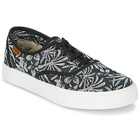 Schoenen Dames Lage sneakers Victoria INGLES ESTAP HOJAS TROPICAL Zwart