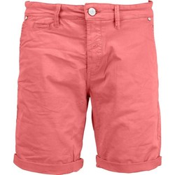 Textiel Heren Korte broeken / Bermuda's No Excess Short, garm dyed satin, stretch cranberry Roze