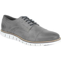 Schoenen Heren Lage sneakers No Excess Shoes, leather broque with sporty s grey Grijs