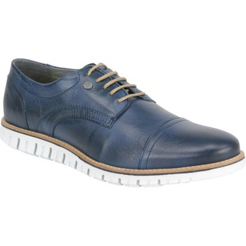 Schoenen Heren Lage sneakers No Excess Shoes, leather broque with sporty s dk blue Blauw
