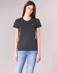 Textiel Dames T-shirts korte mouwen Levi's PERFECT TEE Zwart
