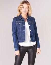 Textiel Dames Spijker jassen Levi's ORIGINAL TRUCKER Blauw / Brut