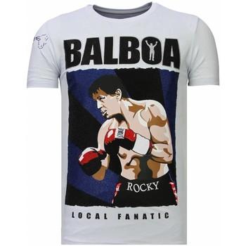 Textiel Heren T-shirts korte mouwen Local Fanatic Balboa Rhinestone Wit