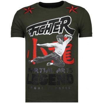 Textiel Heren T-shirts korte mouwen Local Fanatic Fighter Legend - Rhinestone T-shirt - Groen