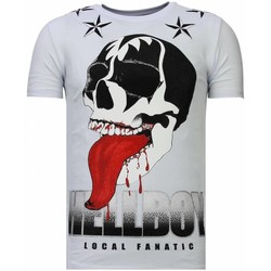 Textiel Heren T-shirts korte mouwen Local Fanatic Hellboy Rhinestone Wit