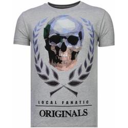 Textiel Heren T-shirts korte mouwen Local Fanatic Skull Originals - Rhinestone T-shirt 35