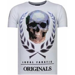 Textiel Heren T-shirts korte mouwen Local Fanatic Skull Originals - Rhinestone T-shirt 1