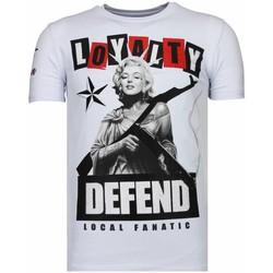 Textiel Heren T-shirts korte mouwen Local Fanatic Loyalty Marilyn Rhinestone Wit