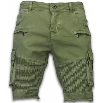Textiel Heren Korte broeken / Bermuda's Enos Korte Broek Heren - Slim Fit Biker Pocket Jeans 25