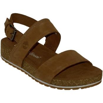 Schoenen Dames Sandalen / Open schoenen Timberland Malibu waves 2 bands Nubuck bruin