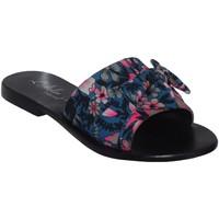 Schoenen Dames Leren slippers L'atelier Tropezien Sh611 Blauw / roze