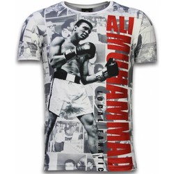 Textiel Heren T-shirts korte mouwen Local Fanatic Muhammad Photocollage - Digital Rhinestone T-shirt 1
