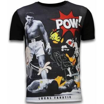 T-shirt Korte Mouw Local Fanatic  Ali vs. Cartoons - Digital Rhinestone T-shirt
