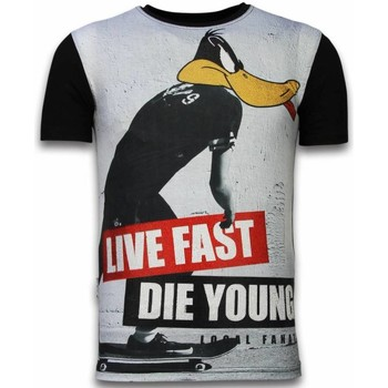 Textiel Heren T-shirts korte mouwen Local Fanatic Duck Live Fast - Digital Rhinestone T-shirt 38