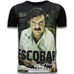 Textiel Heren T-shirts korte mouwen Local Fanatic Escobar King Of Cocaine - Digital Rhinestone T-shirt 38
