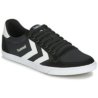 Schoenen Heren Lage sneakers Hummel TEN STAR LOW CANVAS Zwart / Wit