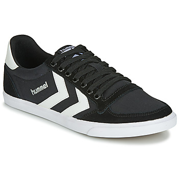 Schoenen Lage sneakers Hummel TEN STAR LOW CANVAS Zwart / Wit