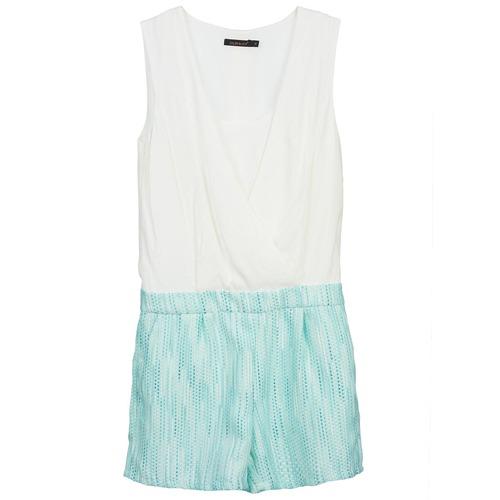 Textiel Dames Jumpsuites / Tuinbroeken Color Block ALIX Blauw