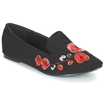 Schoenen Dames Mocassins Moony Mood JASMINY Zwart / Fleur