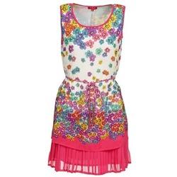 Textiel Dames Korte jurken Derhy BARMAN Ecru / Roze