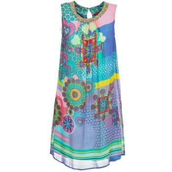 Textiel Dames Korte jurken Derhy BARDE Blauw / Groen / Multi