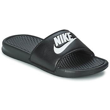 Schoenen Heren Leren slippers Nike BENASSI JUST DO IT Zwart