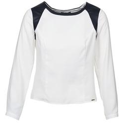 Textiel Dames Tops / Blousjes La City LAETITIA Ecru / Zwart