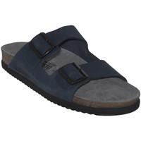 Schoenen Heren Leren slippers Mephisto NERIO Marineblauw nubuck
