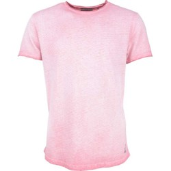 Textiel Heren T-shirts korte mouwen No Excess T-shirt s/sl, r-neck, yd stripe , i old pink Roze