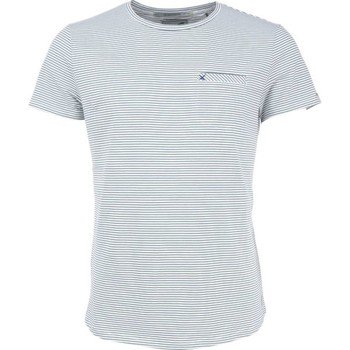 Textiel Heren T-shirts korte mouwen No Excess T-shirt s/sl, r-neck, yd stripe str steel Grijs