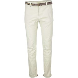 Textiel Heren 5 zakken broeken No Excess Pant, slim fit chino, gd stretch tw kit Ecru